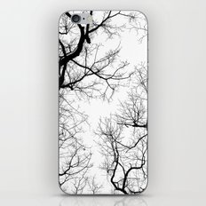 Black and white tree top silhouettes... iPhone & iPod Skin