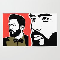 hipster Area & Throw Rugs featuring hipster by mark ashkenazi
