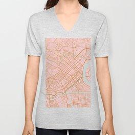 Ho Chi Minh map, Vietnam Unisex V-Neck