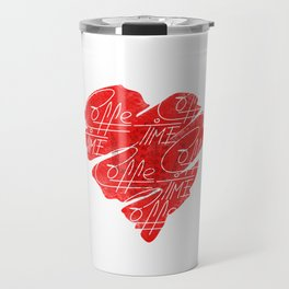 Old heart of coffee V T Shirts Travel Mug