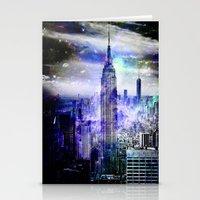 new york skyline Stationery Cards featuring New York Skyline by haroulita