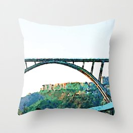 Catanzaro: Morandi bridge Throw Pillow