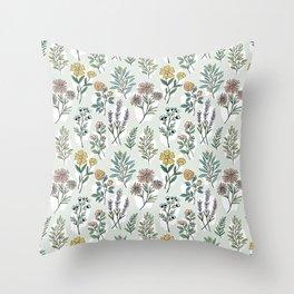 Sketch flowers Throw Pillow