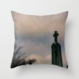 Grave on the Hill Throw Pillow