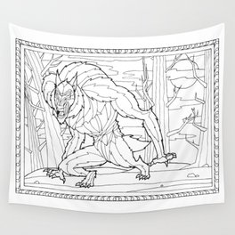 Werewolf from the Bestiary Coloring Book Wall Tapestry