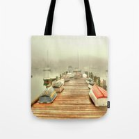 cape cod Tote Bags featuring Cape Cod Mornings 2 by Raymond Earley