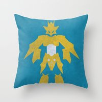digimon Throw Pillows featuring Magnamon by JHTY