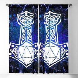 D20 Viking Mjolnir Splatter Blackout Curtain