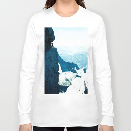 Almost there #Mountain #1 #art #society6 Long Sleeve T-shirt