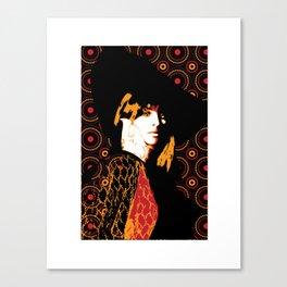 Julie Christie Redux Black Canvas Print