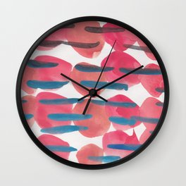 22   | 190408 Red Abstract Watercolour Wall Clock