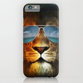 Cool Lion Face iPhone Case