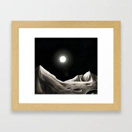 Surface of Mercury Framed Art Print