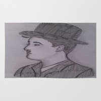 charlie chaplin Area & Throw Rugs featuring Charlie Chaplin by Natasha Lake