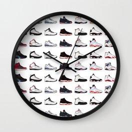 Air Jordan Series Collection 1-14 Wall Clock