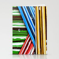 planes Stationery Cards featuring Striped Planes by Claudia McBain