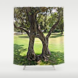 Dance of the Olive Tree Shower Curtain