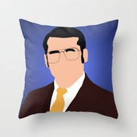 anchorman Throw Pillows featuring Brick Tamland - Anchorman by Tom Storrer