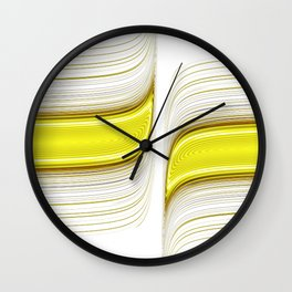 Lines 0001 white Wall Clock