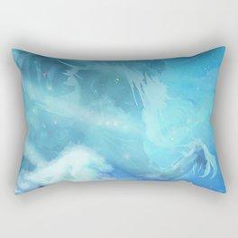 Saitama vs bad santa claus Rectangular Pillow