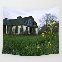 Dilapidated Farm and Mustard Seed Wall Tapestry