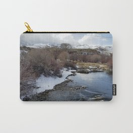 Winter River Awakening Carry-All Pouch