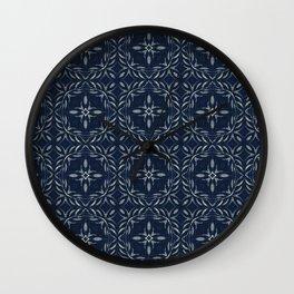 Traditional Indigo Blue Hand Drawn Portugal Wall Clock