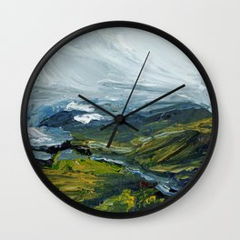 Yellowstone I Wall Clock