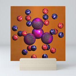 Juggling with all Balls in the Air Mini Art Print