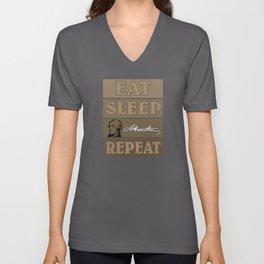 Eat Sleep Hamilton - Gift Unisex V-Neck