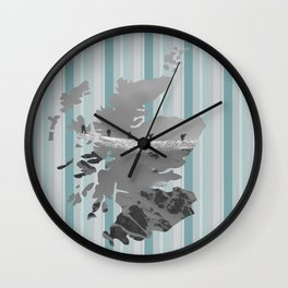 Scotland, the land of mountains Wall Clock