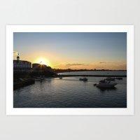 Block Island Sunset  Art Print