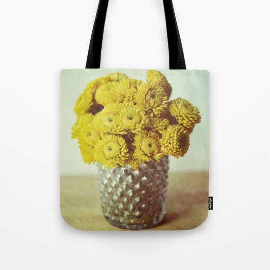 yellow makes me happy Tote Bag