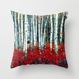 :: Begonia Birch :: Throw Pillow