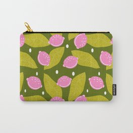 Contemporary summer pattern with leaves and lemons Carry-All Pouch
