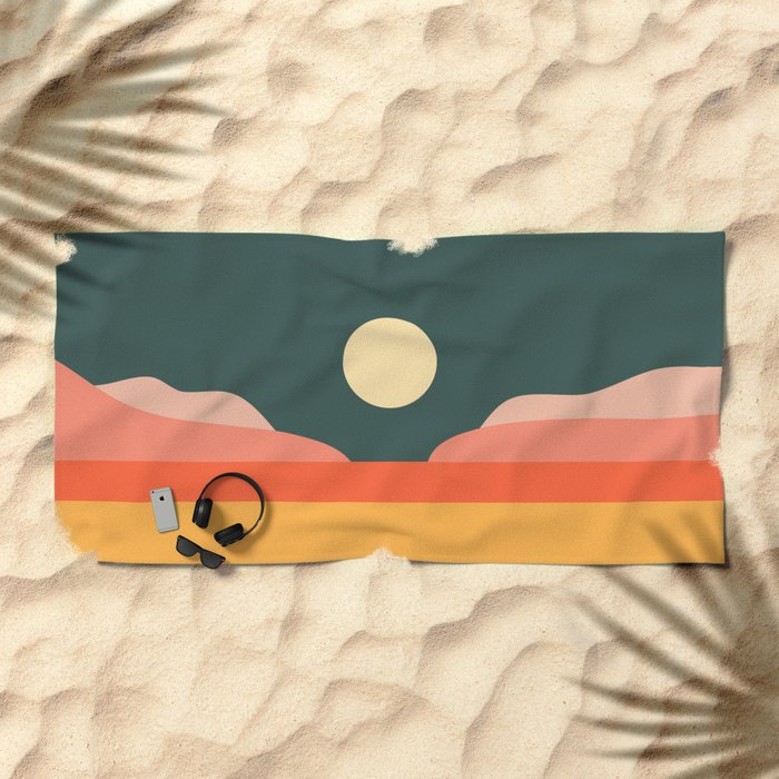 Geometric Landscape 14 Beach Towel
