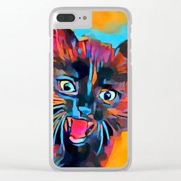 Fierce Kitty Clear iPhone Case