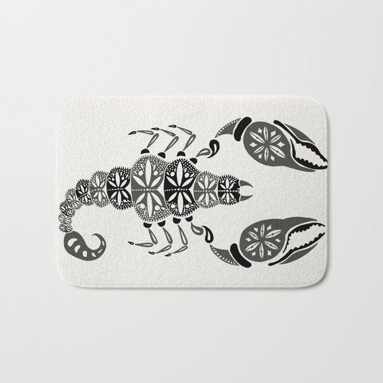 Black Scorpion Bath Mat