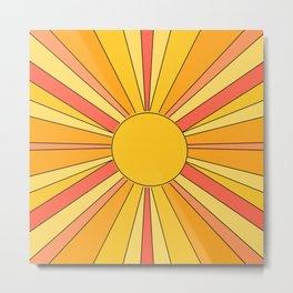 Sun rays Metal Print