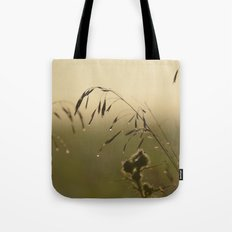 Morning Dew Bending Delicate Grass Tote Bag
