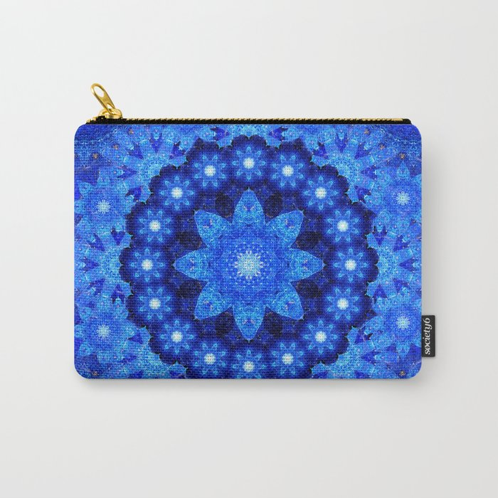 Lapis Crown Mandala Carry-All Pouch