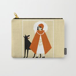 Naive art deco Little Red Riding Hood Carry-All Pouch