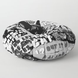 Who Let the Cat Out !? Wild Wall Floor Pillow