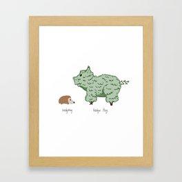 Hedgehog vs. Hedge Hog Framed Art Print