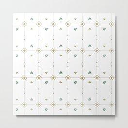 Jazzy Okami Pattern Metal Print