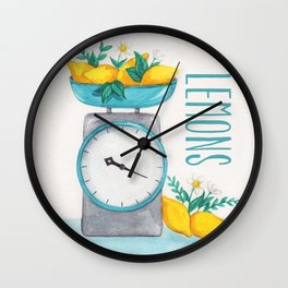 Lemon Kitchen Scale 2 Wall Clock