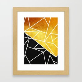 Coal and Gold Framed Art Print