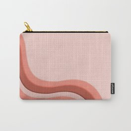 Pantone Living Coral Soothing Waves with Canvas Texture Carry-All Pouch