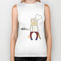 chef Biker Tanks featuring THE CHEF!! by Riot Clothing