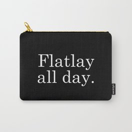 Flatlay All Day - Black Carry-All Pouch